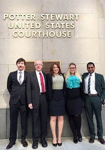 """We argued the case of Terry Ceasor in the 6th Circuit Court of Appeals in Cincinnati yesterday. Great oral argument by our student Meredith Collier. This is a wrongful conviction based on Shaken Baby Syndrome, and we are seeking an evidentiary hearing in federal court. The full audio of the argument is available here: http://goo.gl/sOajph"